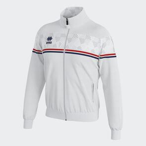 Erreà Donovan Full-Zip Jacket – White/Red/Navy