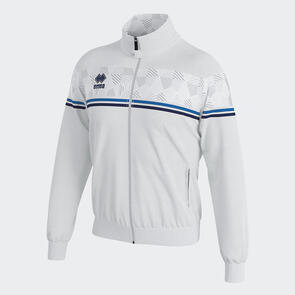 Erreà Donovan Full-Zip Jacket – White/Blue/Navy