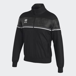 Erreà Donovan Full-Zip Jacket – Black/Anthracite/White