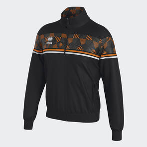 Erreà Donovan Full-Zip Jacket – Black/Orange-Fluo/White
