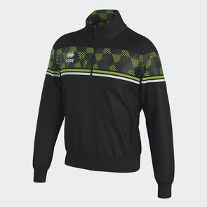 Erreà Donovan Full-Zip Jacket – Black/Green-Fluo/White