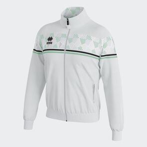 Erreà Donovan Full-Zip Jacket – White/Black/After-Eight