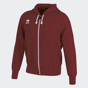 Erreà Jacob Full-Zip Hooded Track Jacket – Maroon
