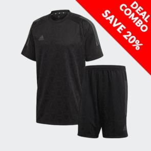 adidas Tango Jacquard Short & Jersey Set