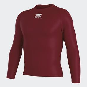 Erreà Daris Baselayer LS Shirt – Maroon