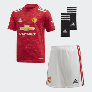 adidas Infant 2020-21 Manchester United Home Mini Kit