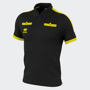 Erreà Doug Referees Shirt – Black/Yellow-Fluo