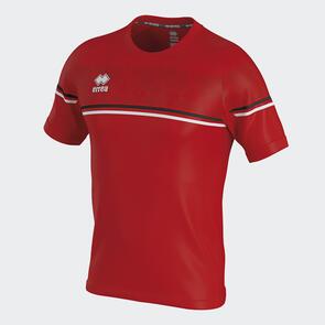 Erreà Diamantis Shirt – Red/Black/White