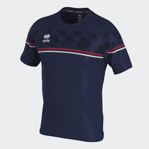 Erreà Diamantis Shirt – Navy/Red/White