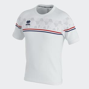 Erreà Diamantis Shirt – White/Red/Navy