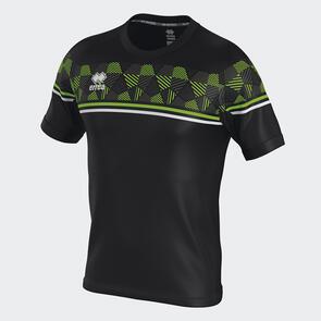 Erreà Diamantis Shirt – Black/Green-Fluo/White