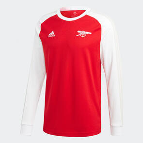adidas Arsenal Icons Long Sleeve Tee – Scarlet/White