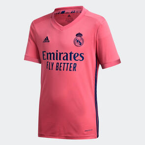 adidas Junior 2020-21 Real Madrid Away Shirt – Pink