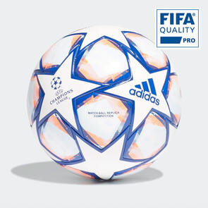 adidas UEFA UCL Finale 20 Competition Ball – White/Blue/Coral