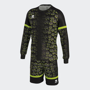 Erreà Tabora Long Sleeve GK Set – Black/Green-Fluo
