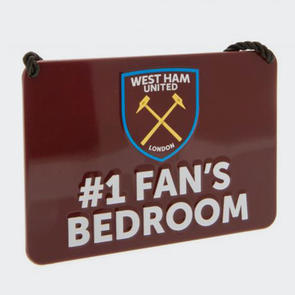 West Ham United Bedroom Sign No.1 Fan