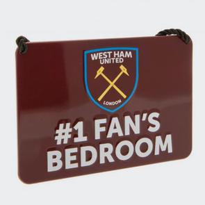 West Ham United Bedroom Sign No.1 Fan