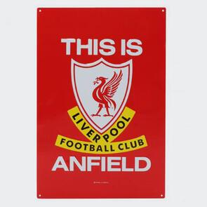 Liverpool FC TIA Large Metal Sign