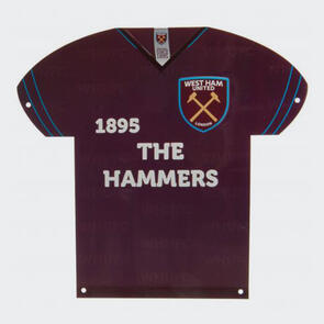 West Ham United Metal Shirt Sign