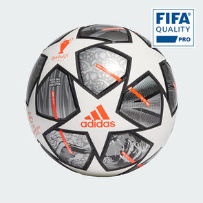 adidas Finale 21 UCL Competition Match Ball – White/Silver/Orange