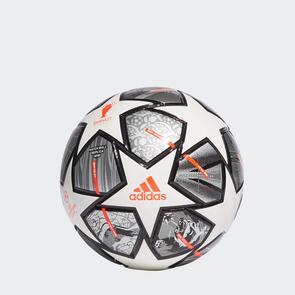 adidas Finale 21 UCL Mini Ball – White/Silver/Orange