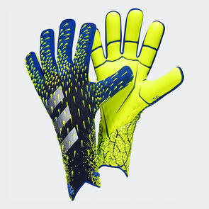 adidas Predator Pro GK Gloves – Black/Blue/Yellow
