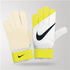 Nike Match GK Gloves – White/Yellow