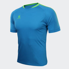 Kelme Flecha Shirt – Lake-Blue/Neon-Green