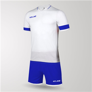 Kelme Capitan Jersey & Short Set – White/Blue