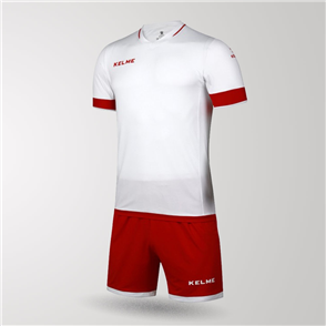 Kelme Capitan Jersey & Short Set – White/Red