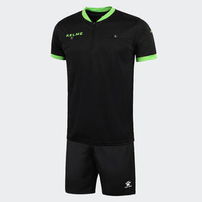 Kelme Arbitro III Short Sleeve Referee Set – Black/Neon-Green