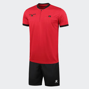 Kelme Arbitro III Short Sleeve Referee Set – Red/Black