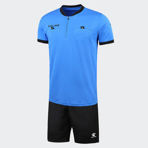 Kelme Arbitro III Short Sleeve Referee Set – Neon-Blue/Black