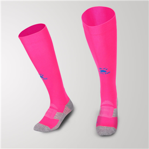 Kelme Equip Long Calf Football Sock – Pink/Sea-Blue