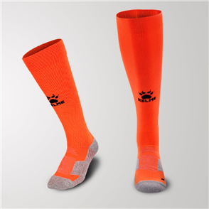 Kelme Equip Long Calf Football Sock – Orange/Black
