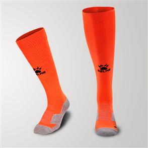 Kelme Equip Long Calf Football Sock – Orange/Black