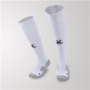Kelme Junior Equip Long Calf Football Sock – White/Black