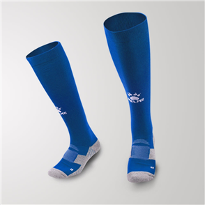 Kelme Junior Equip Long Calf Football Sock – Blue/White
