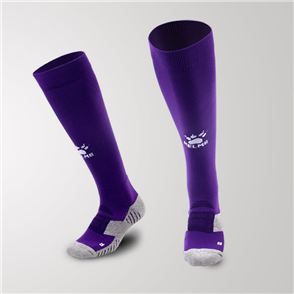 Kelme Junior Equip Long Calf Football Sock – Purple/White