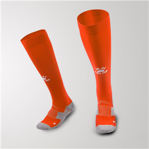 Kelme Junior Equip Long Calf Football Sock – Orange/White