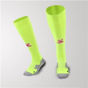 Kelme Junior Equip Long Calf Football Sock – Neon-Green/Red