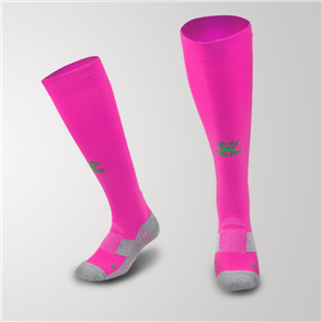 Kelme Junior Equip Long Calf Football Sock – Neon-Pink/Neon-Green