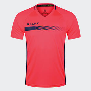 Kelme Fade Shirt – Neon-Red/Navy
