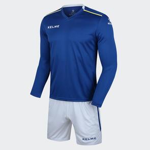 Kelme Moda Long Sleeve Jersey & Short Set – Blue/White