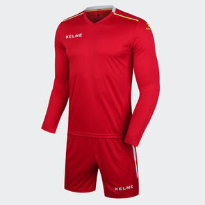 Kelme Moda Long Sleeve Jersey & Short Set – Red/White