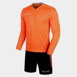 Kelme Moda Long Sleeve Jersey & Short Set – Neon-Orange/White
