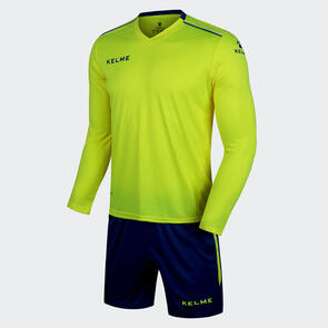 Kelme Moda Long Sleeve Jersey & Short Set – Neon-Yellow/Blue