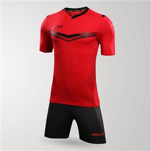 Kelme Goleador Jersey & Short Set – Red/Black