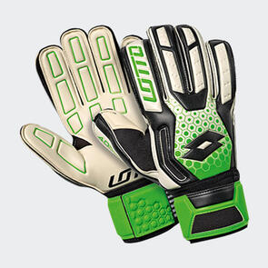 Lotto Spider 200 GK Gloves – White/Black/Green