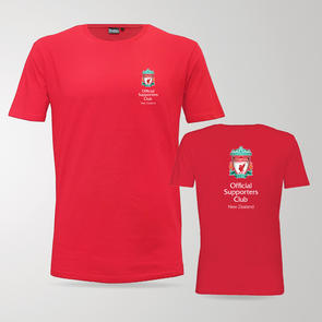 TSS Official LFC Supporters Club of NZ Tee – Red